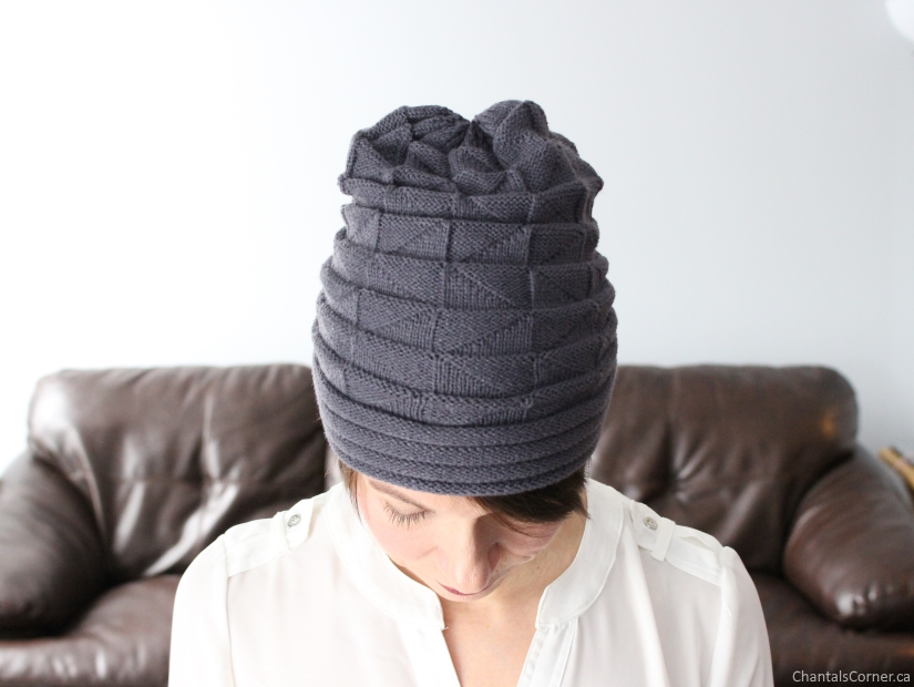 Solid Flanging Knitted Hat Bellelily