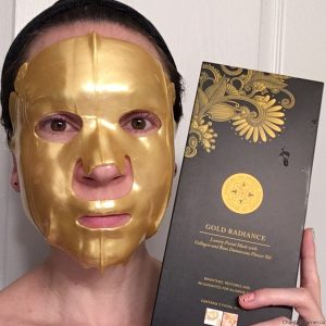 Passport To Beauty Gold Radiance Luxury Facial Mask with Collagen and Rose Oil