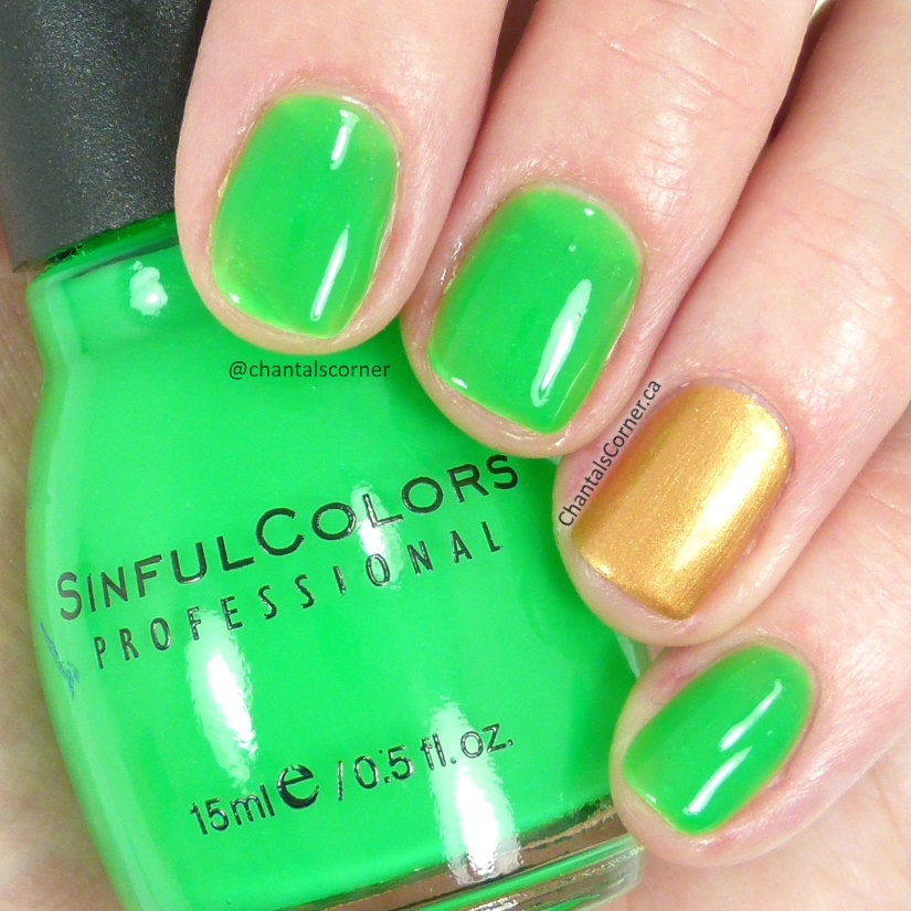 Sinful Colors nail polish Irish Green swatch review