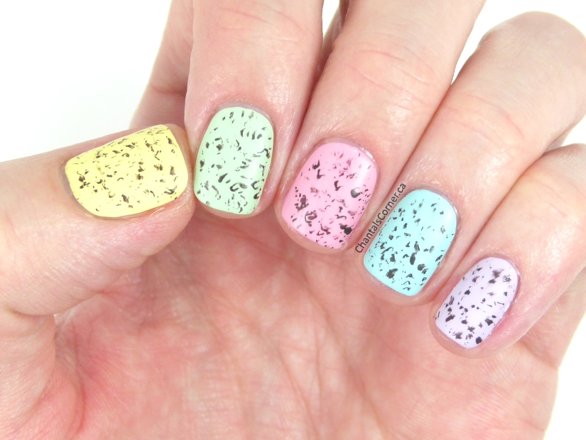 Speckled Easter Eggs Nail Art - Chantal\'s Corner