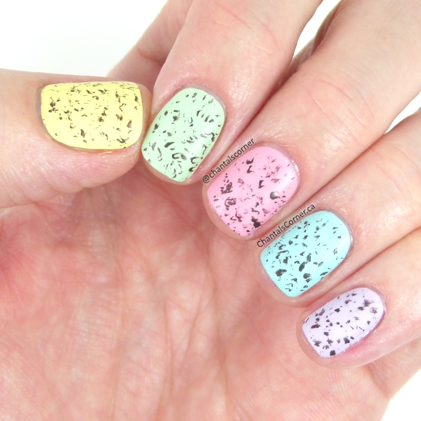 Speckled Easter Eggs Nail Art