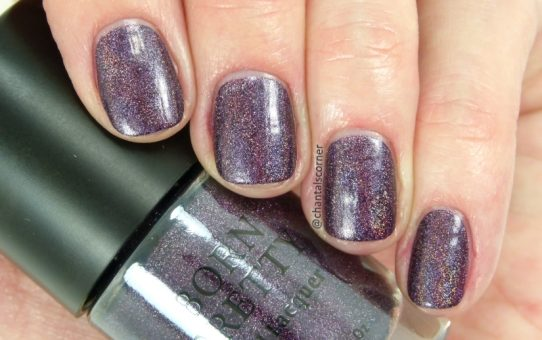 Born Pretty Holographic Nail Polish in Violet Light - Swatches Review