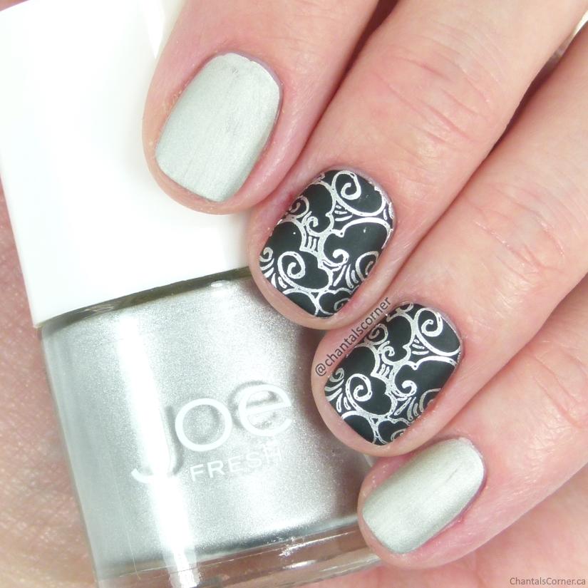 Joe Fresh Nail Polish in Tin with Cloud Stamping Nail Art