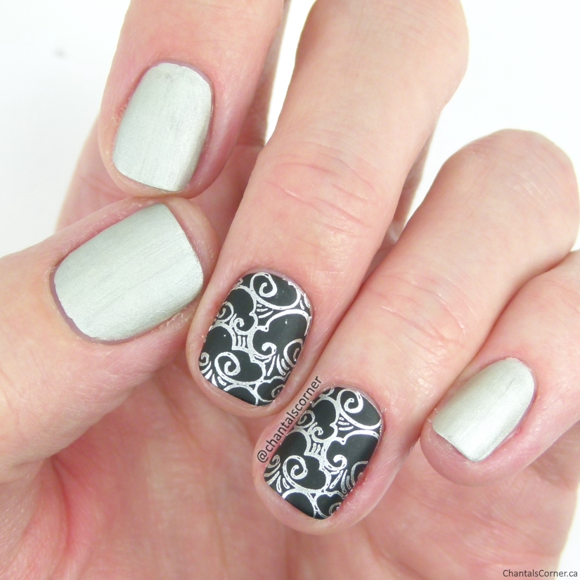 Joe Fresh Nail Polish in Tin with Cloud Stamping Nail Art