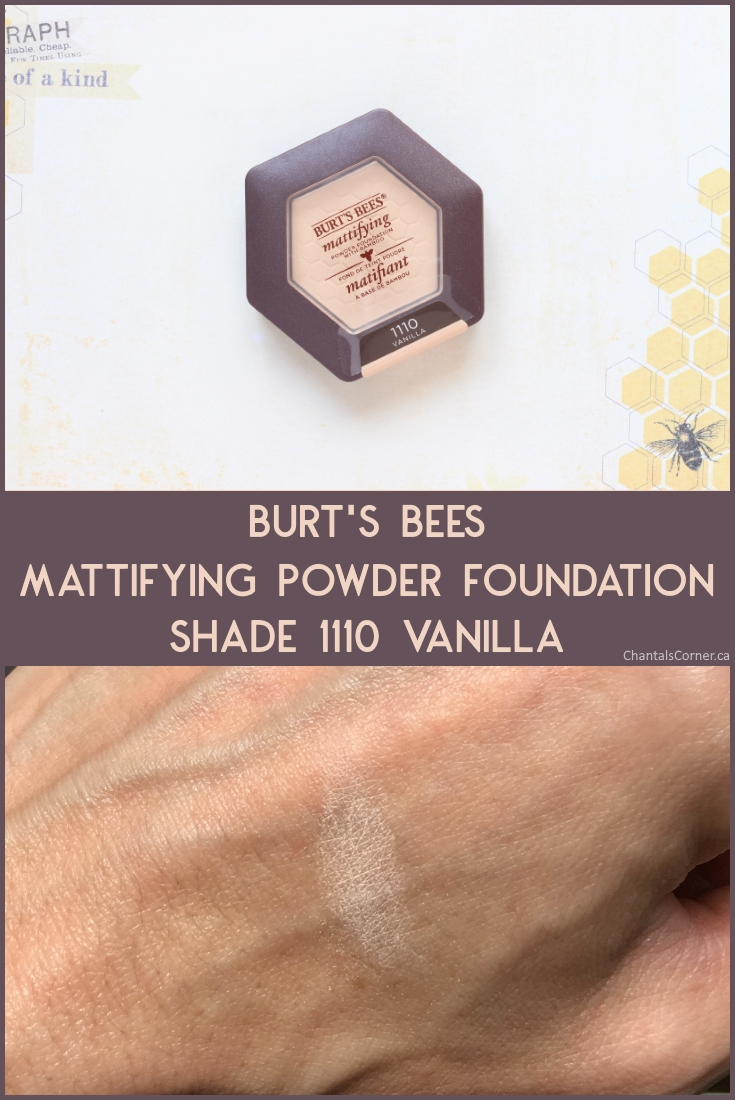 Burt's Bees Mattifying Powder Foundation in Vanilla
