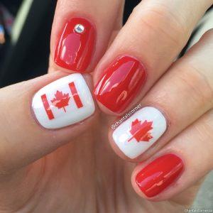 Canada Day Nail Art Dollar Tree Nail Stickers Glamour Glints Nail Jewels