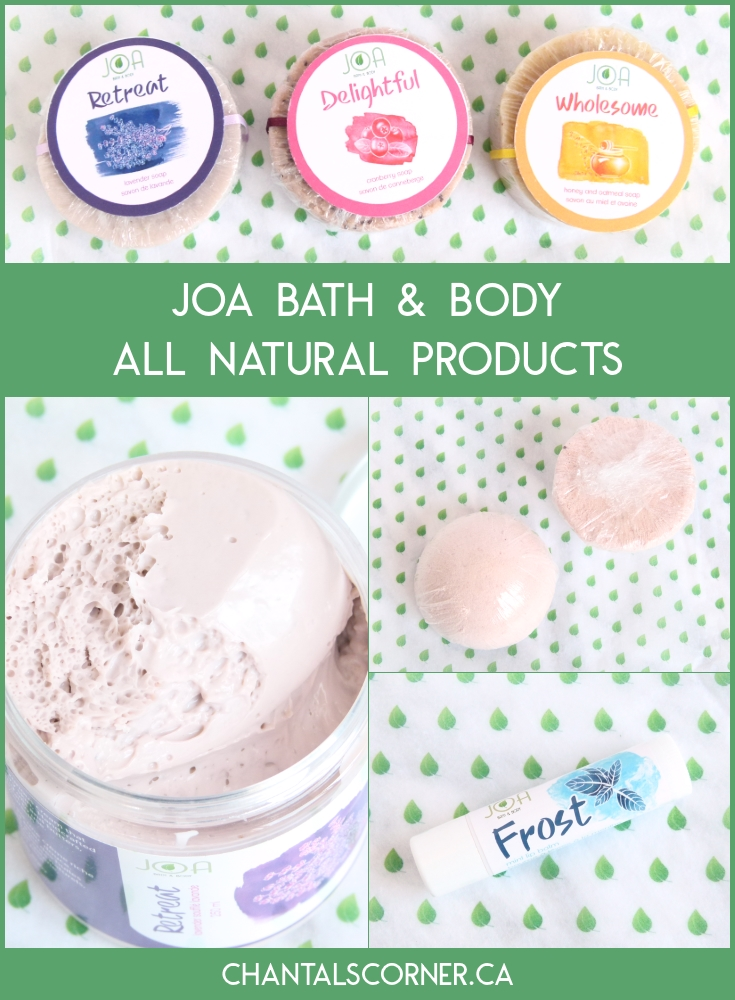 Joa Bath and Body All Natural Products