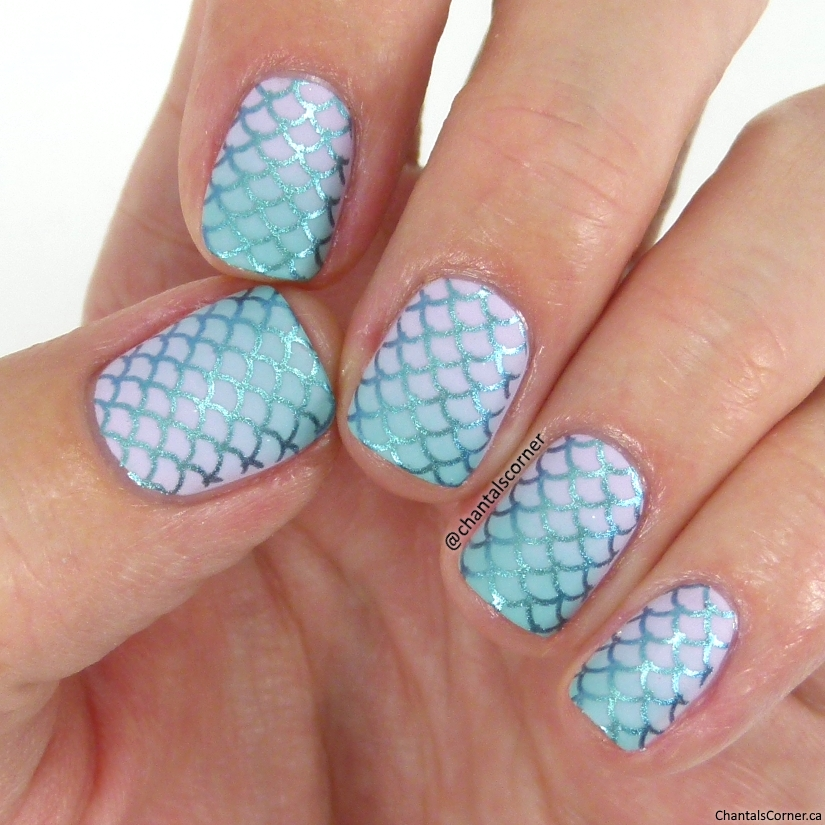 Mermaid Nail Art with KADS Stamping Plate