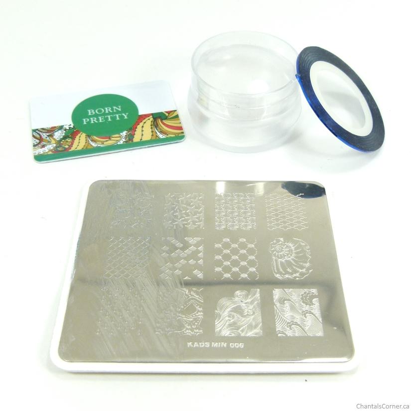 nautical nail art with KADS stamping plate