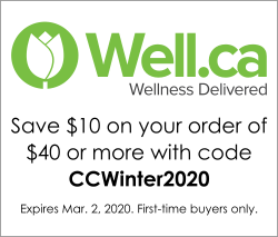 Save $10 on your order of $40 or more at Well.ca with code CCSummer2018