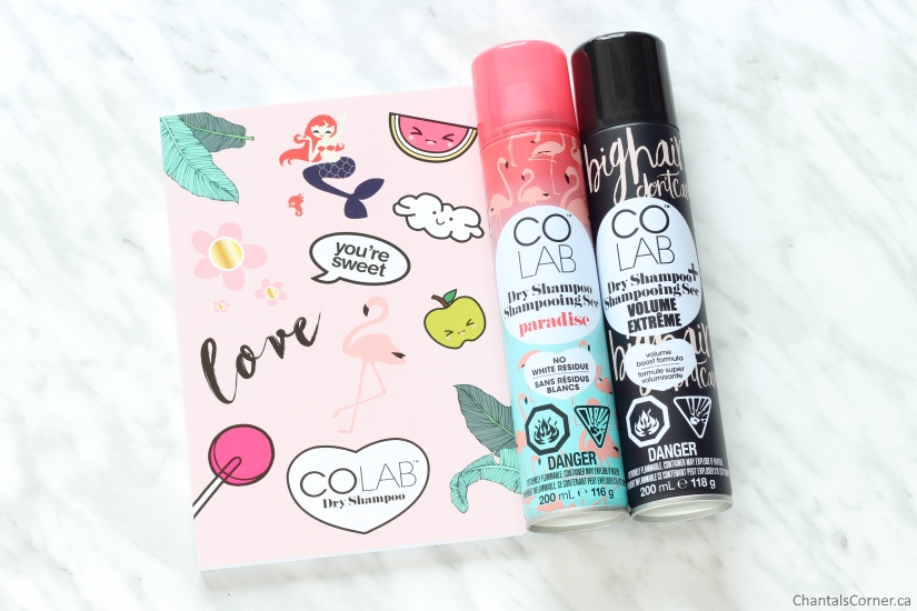 COLAB Dry Shampoo in Paradise and Volume Extreme