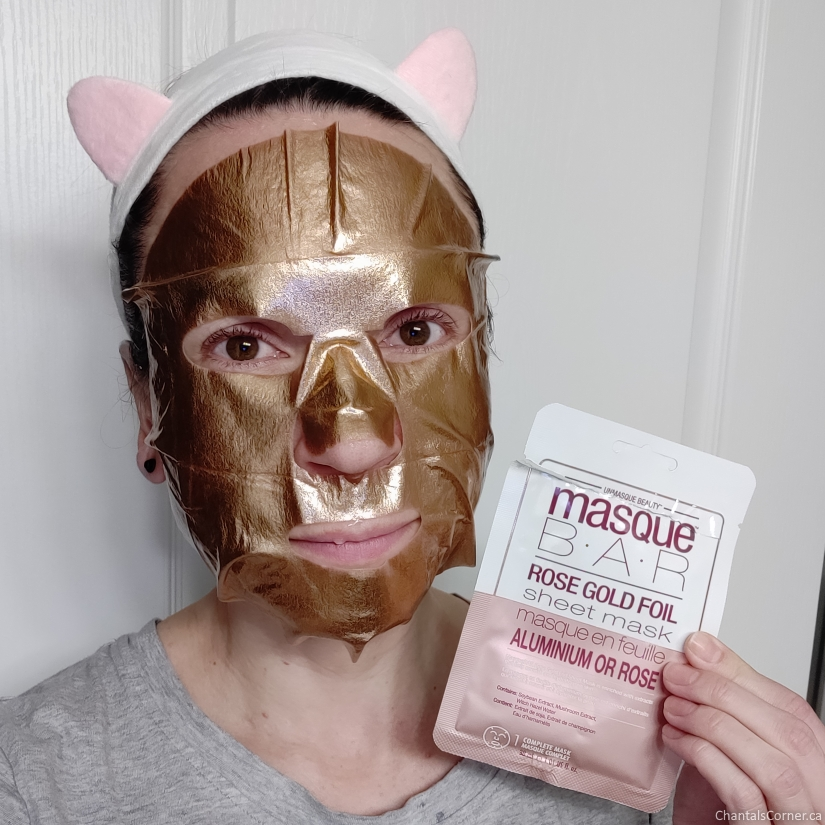 Masque Bar Rose Gold Foil Sheet Mask