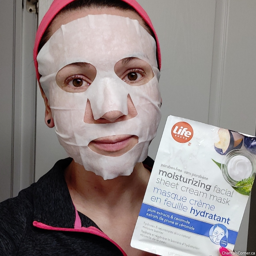 Life Brand Moisturizing Facial Sheet Cream Mask