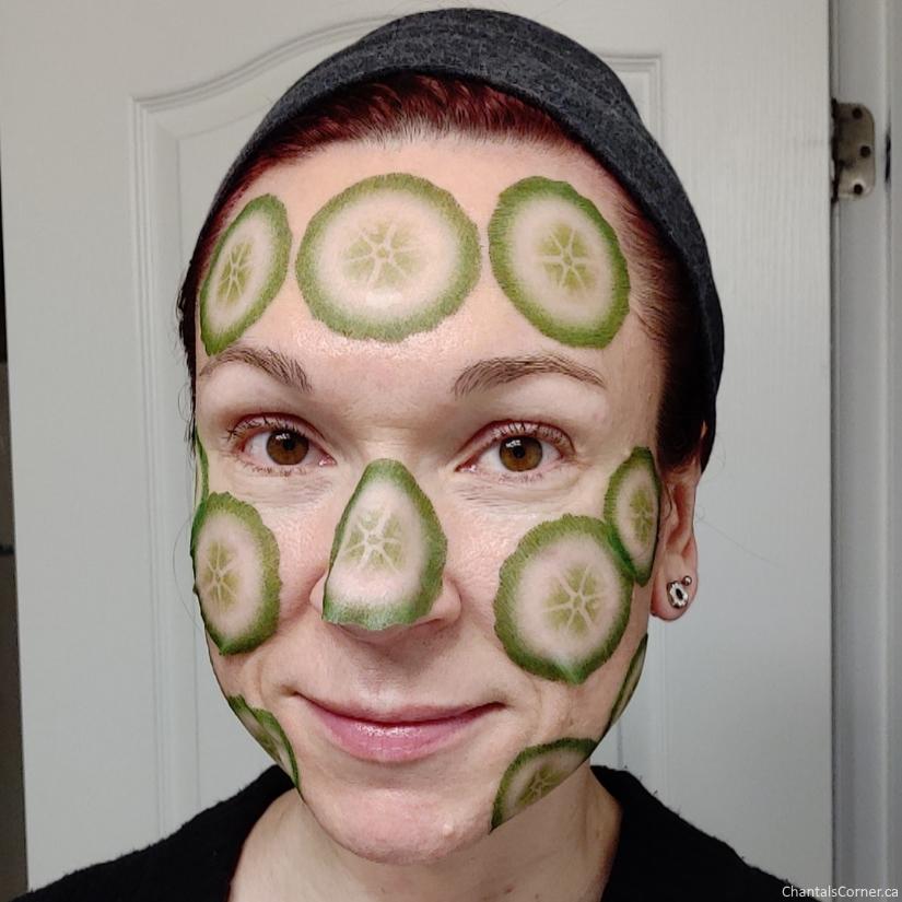 A'Pieu Cucumber Slice Sheet Mask selfie