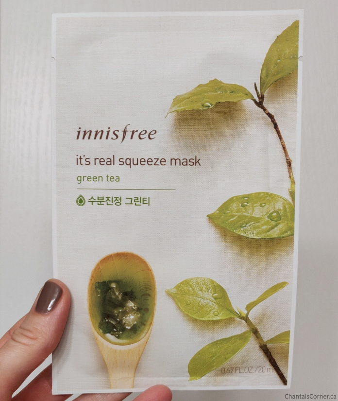 Innisfree It's Real Squeeze Mask in Green Tea