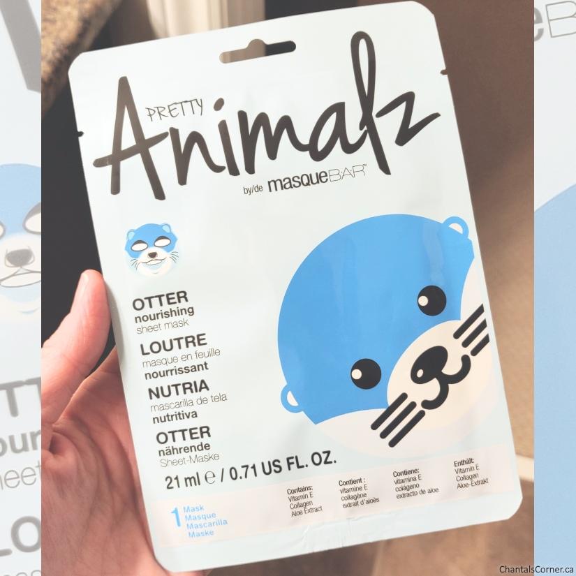 MasqueBAR Pretty Animalz Otter Sheet Mask