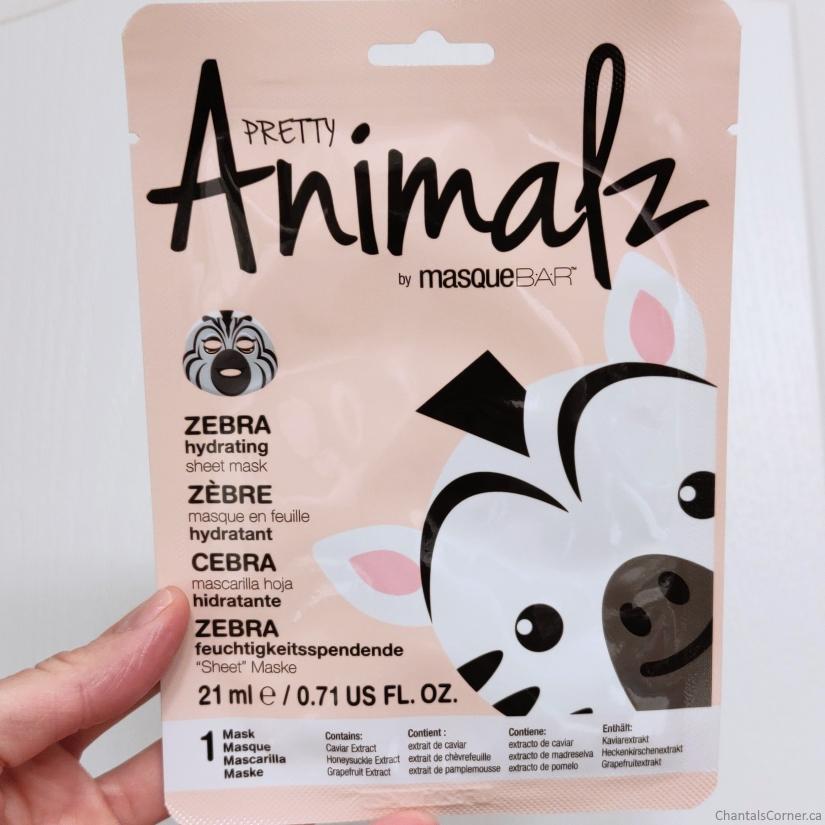 MasqueBAR Pretty Animalz Zebra Sheet Mask