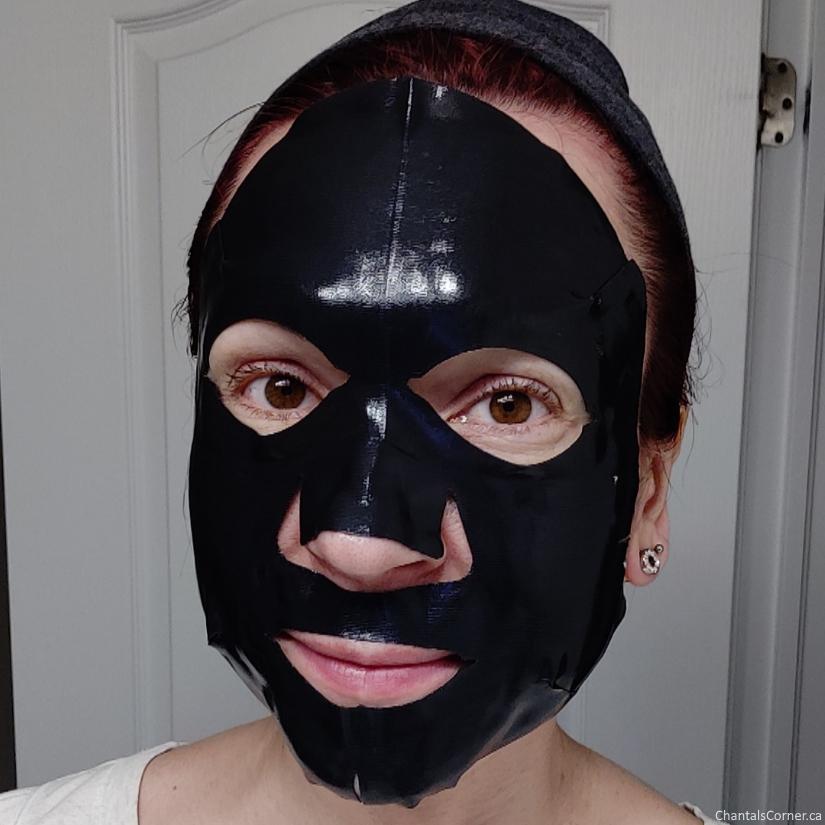 Sexylook Black Lava Ceramide Hydrating Hydrogel Mask selfie