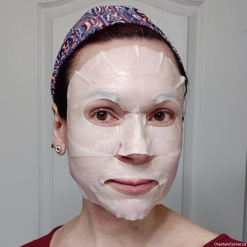 Innisfree Jeju orchid enriched cream mask selfie