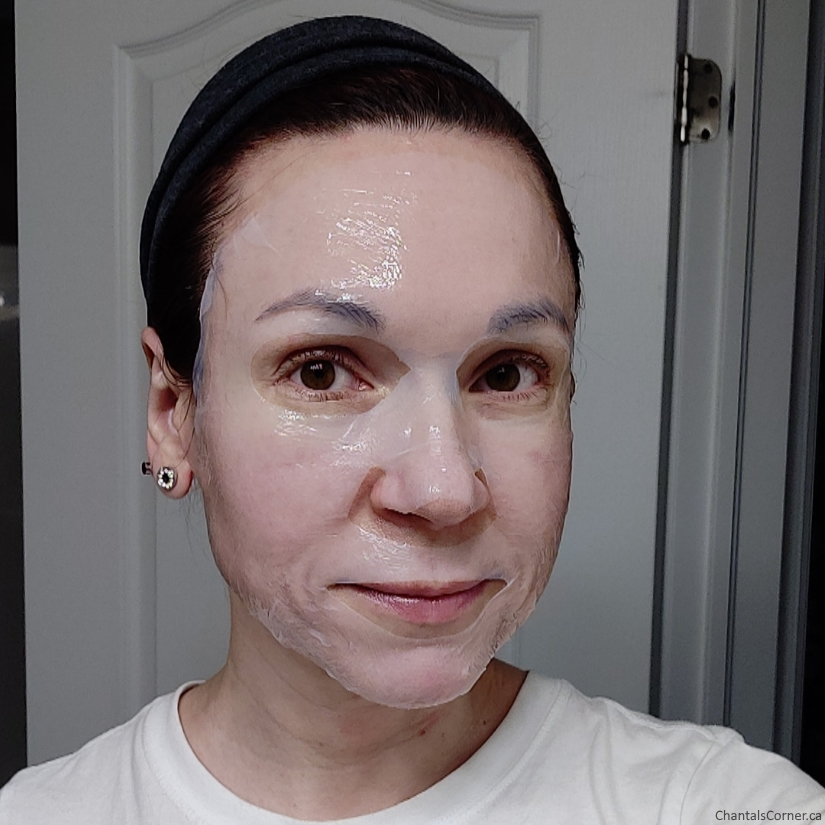 soo'ae Skin Recovery Biocellulose Mask sheet selfie