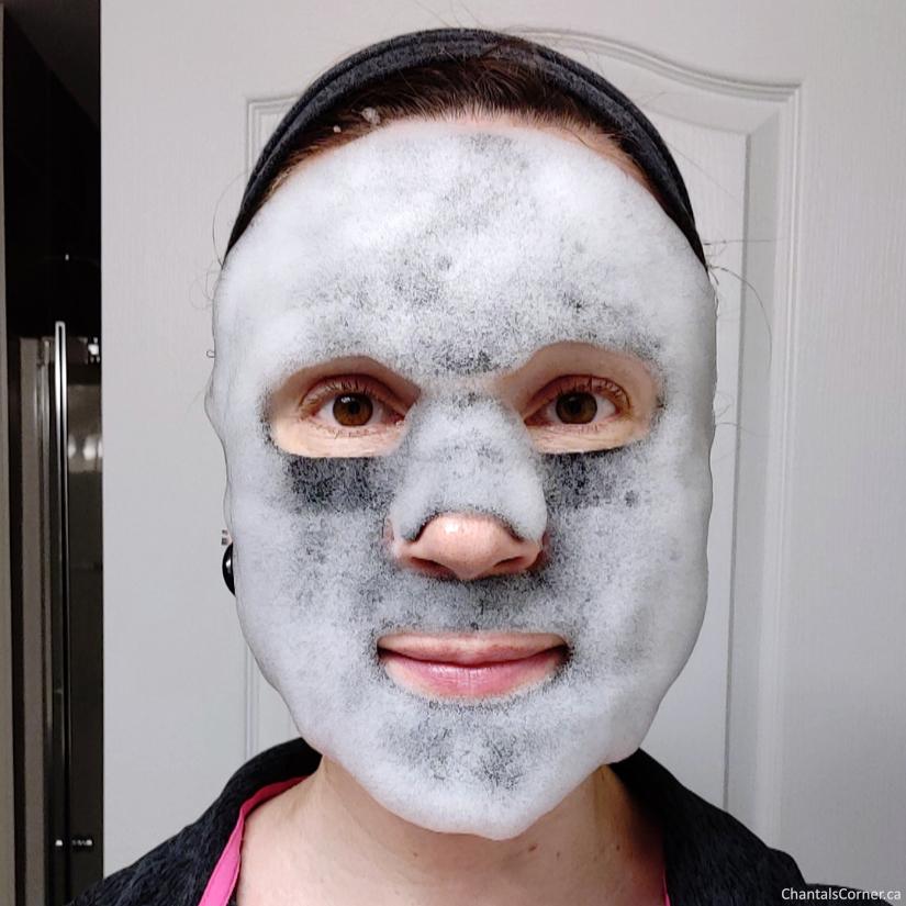 Boo Bamboo Hydrating Charcoal Bubble Sheet Mask selfie