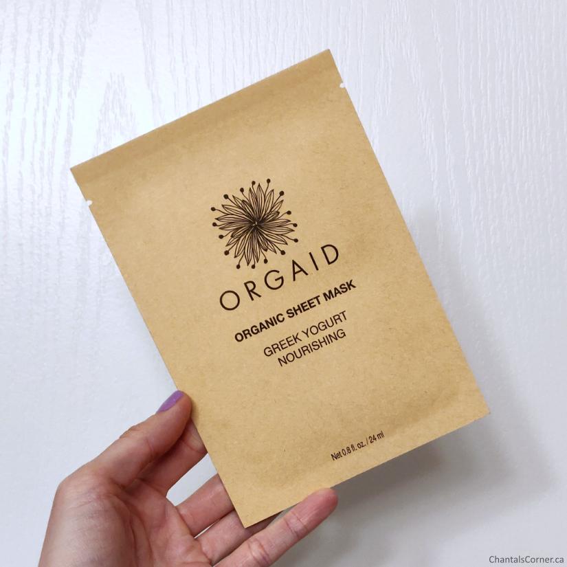 Orgaid Greek Yogurt Nourishing Organic Sheet Mask