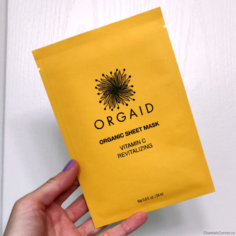 Orgaid Vitamin C Revitalizing Organic Sheet Mask