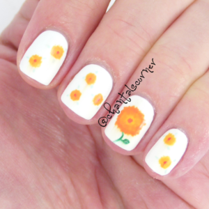 may flowers nail art