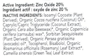 LASPA Moisturizing Mineral Sunscreen SPF 30 ingredients