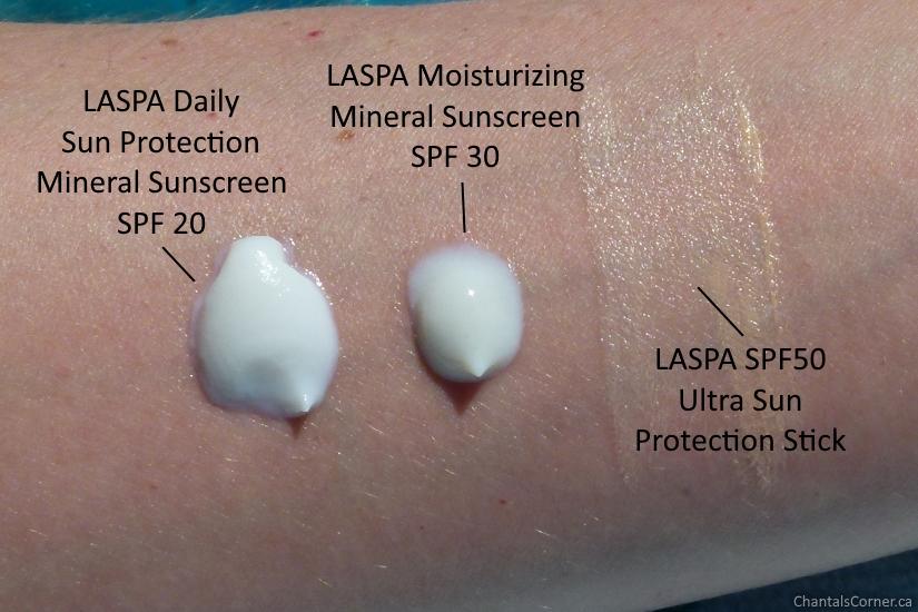 LASPA natural mineral sunscreens textures