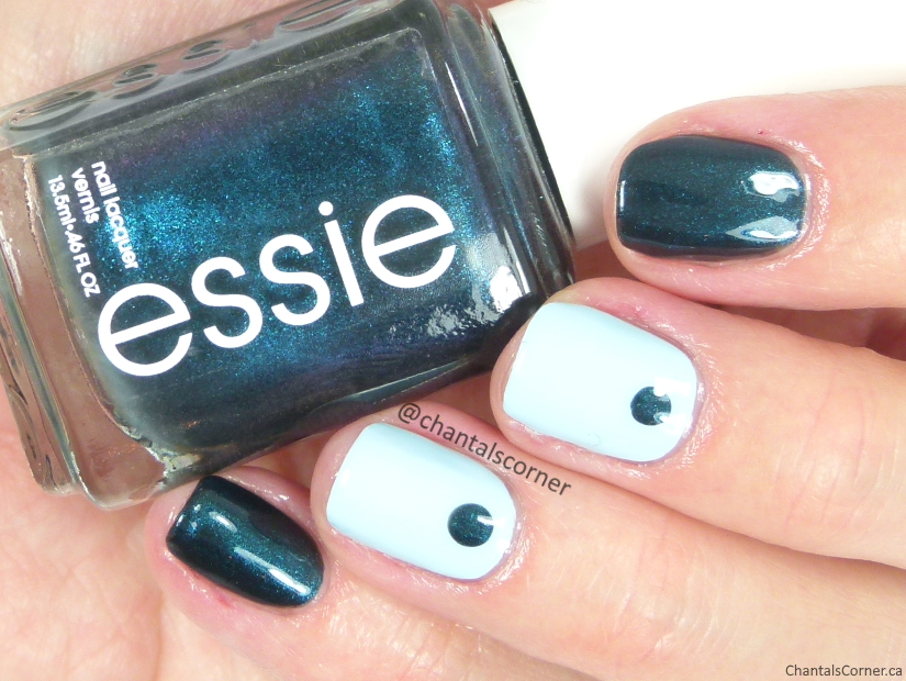 essie nail polish in dive bar and mint candy apple