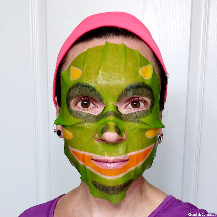 MasqueBAR Pretty Animalz Dragon Sheet Mask selfie
