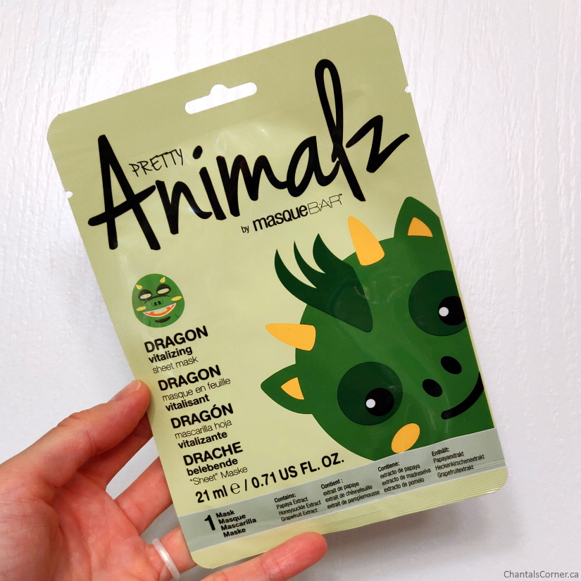 MasqueBAR Pretty Animalz Dragon Sheet Mask