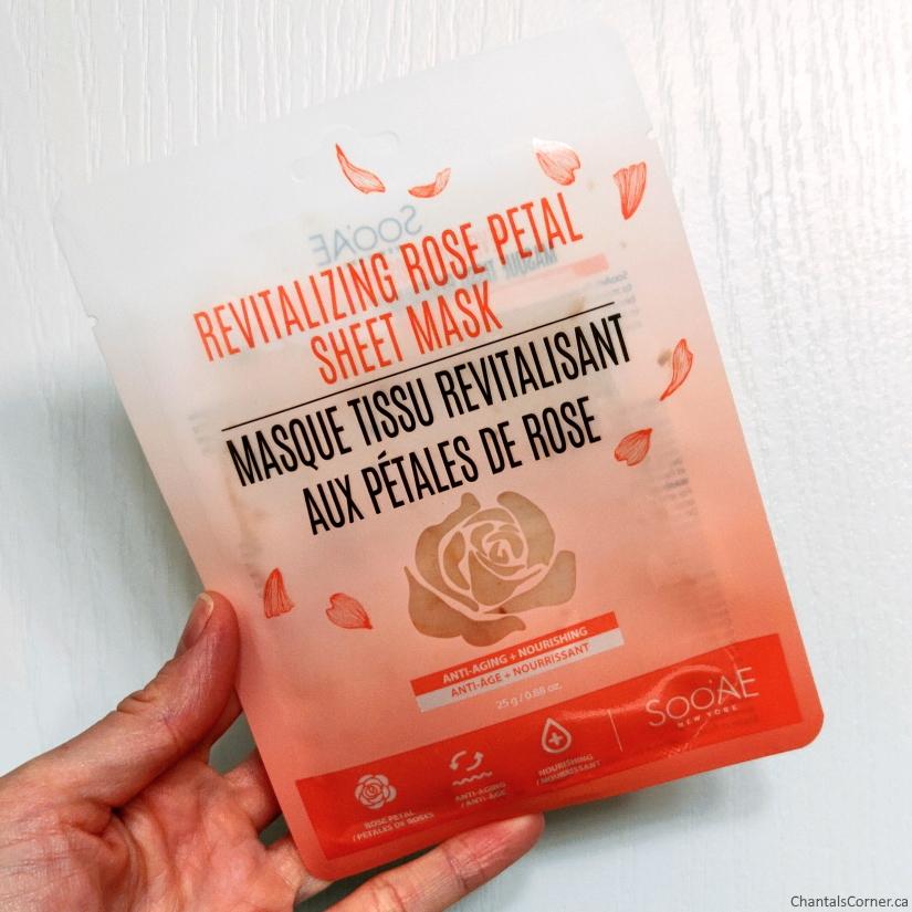 Soo'Ae Revitalizing Rose Petal Sheet Mask