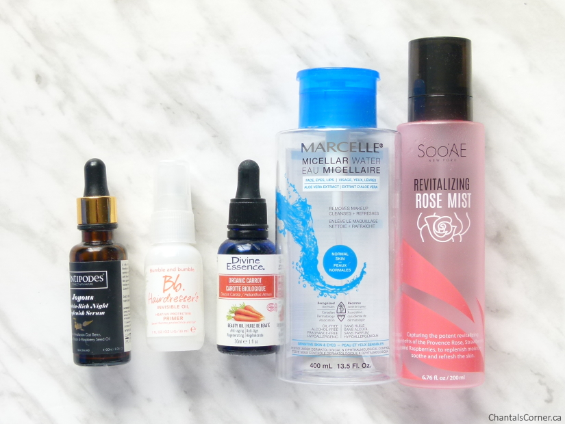 monthly empties august 2019 face