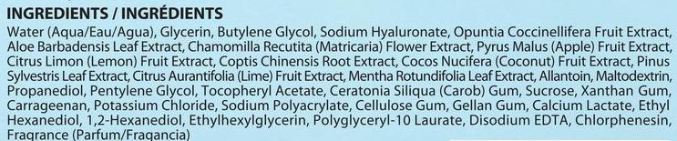 soo'ae Cactus & Aloe Soothing Hydrogel Mask ingredients