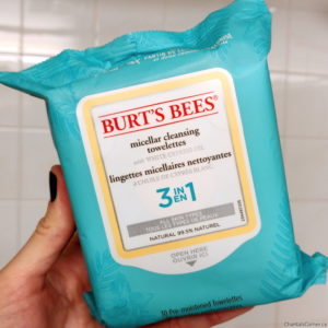 burts bees micellar cleansing towelettes