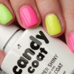 candy coat neon gel nail polish pink green yellow
