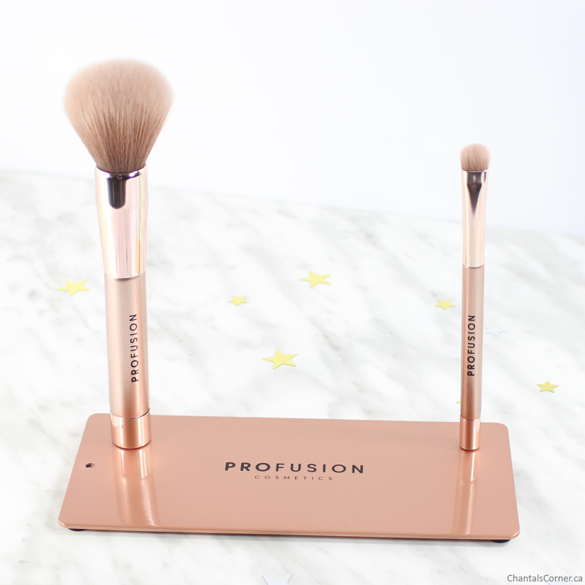Profusion Magnetix Magnetic Plate and Makeup Brushes