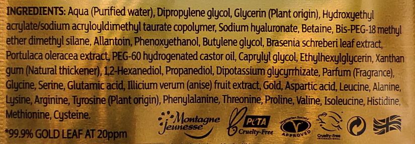 7th heaven renew you 24K Gold Firming Sheet Mask ingredients