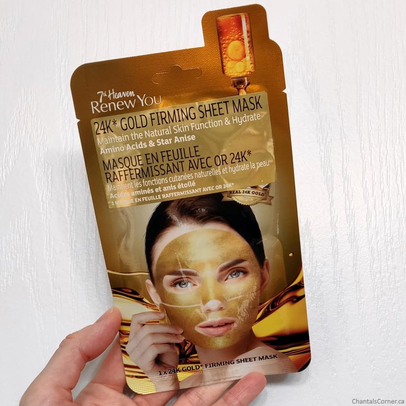7th heaven renew you 24K Gold Firming Sheet Mask