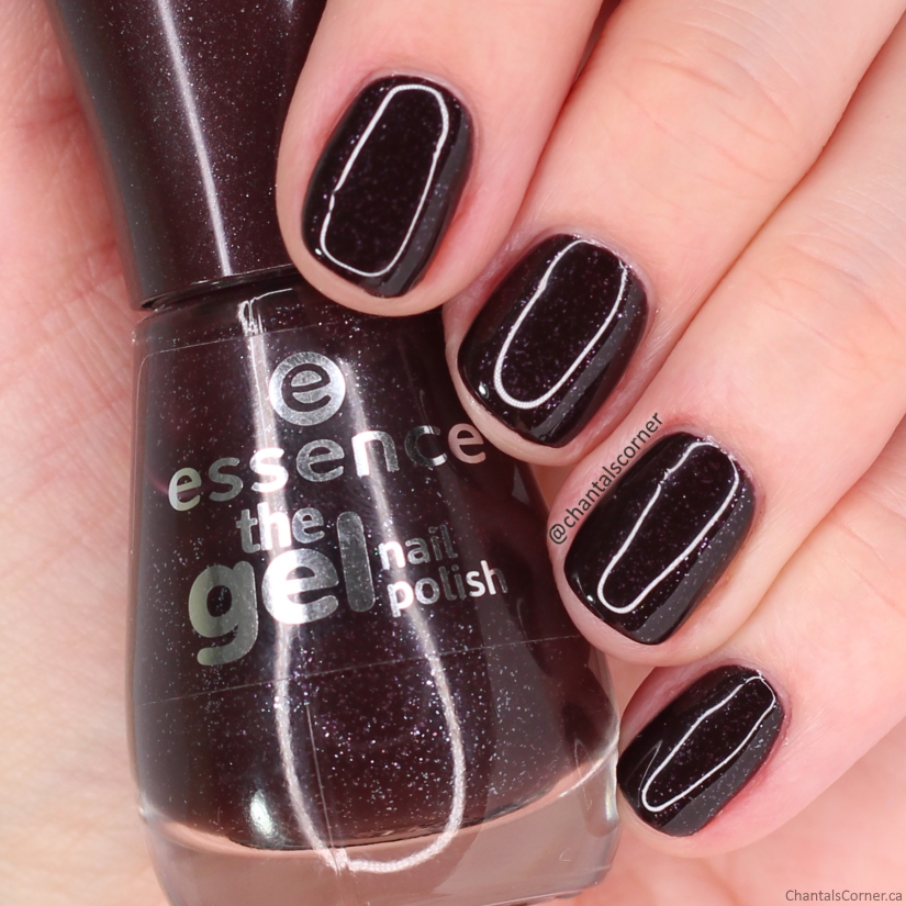 essence nail polish 109 glitter choc swatch